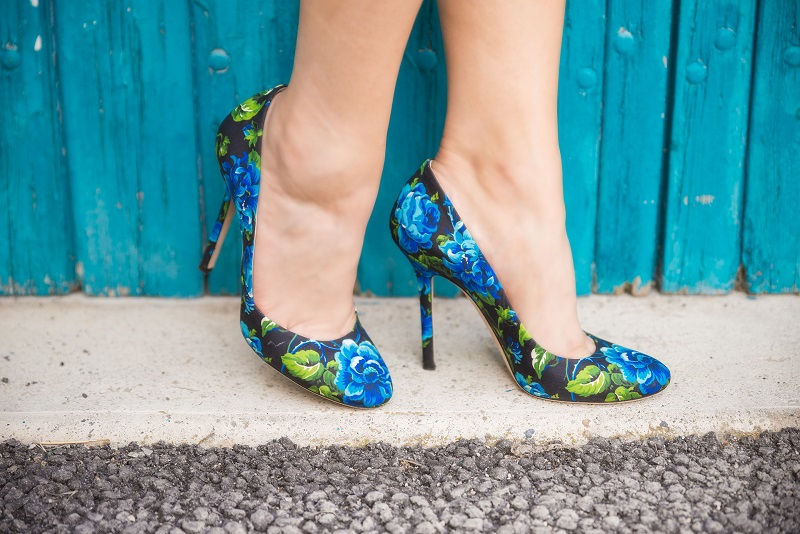 scarpe floreali abbinamenti