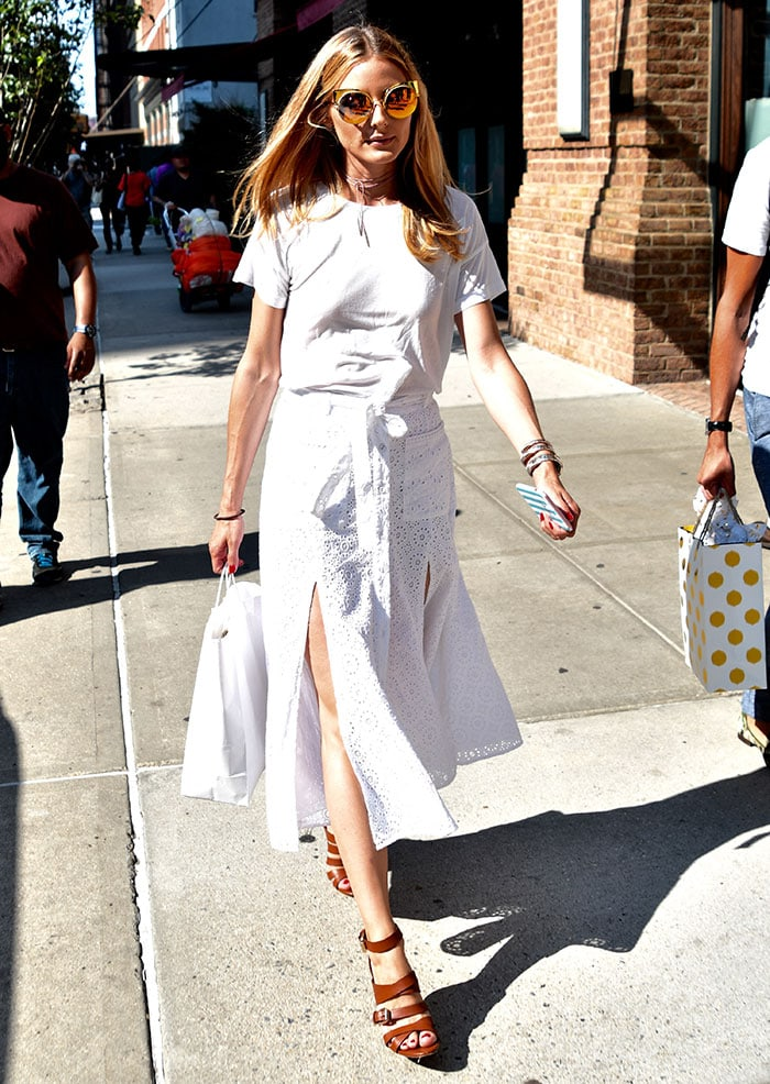 outfit bianco olivia palermo