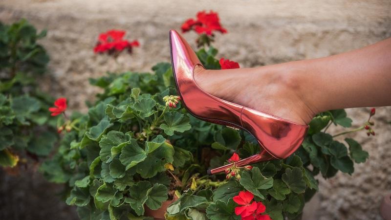 scarpe metallizzate rosa