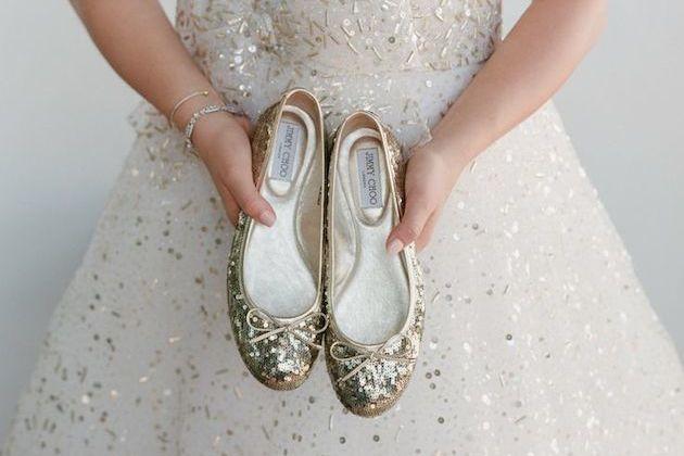 vestito elegante e ballerine
