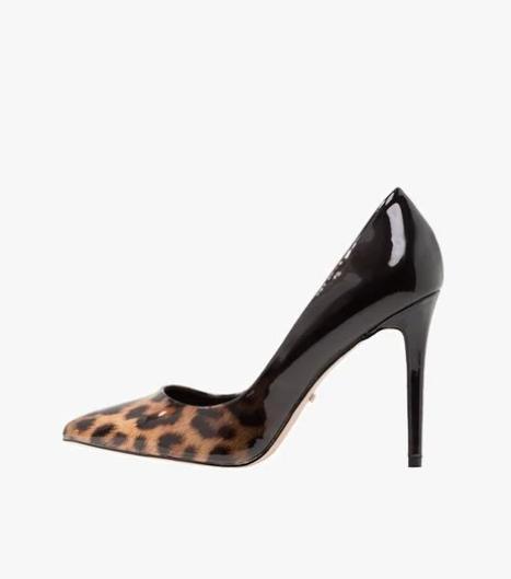 scarpe leopardate vernice