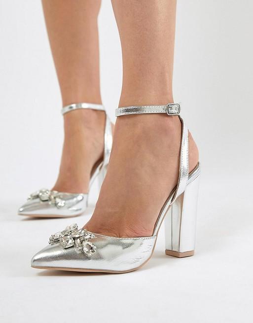 scarpe argento capodanno