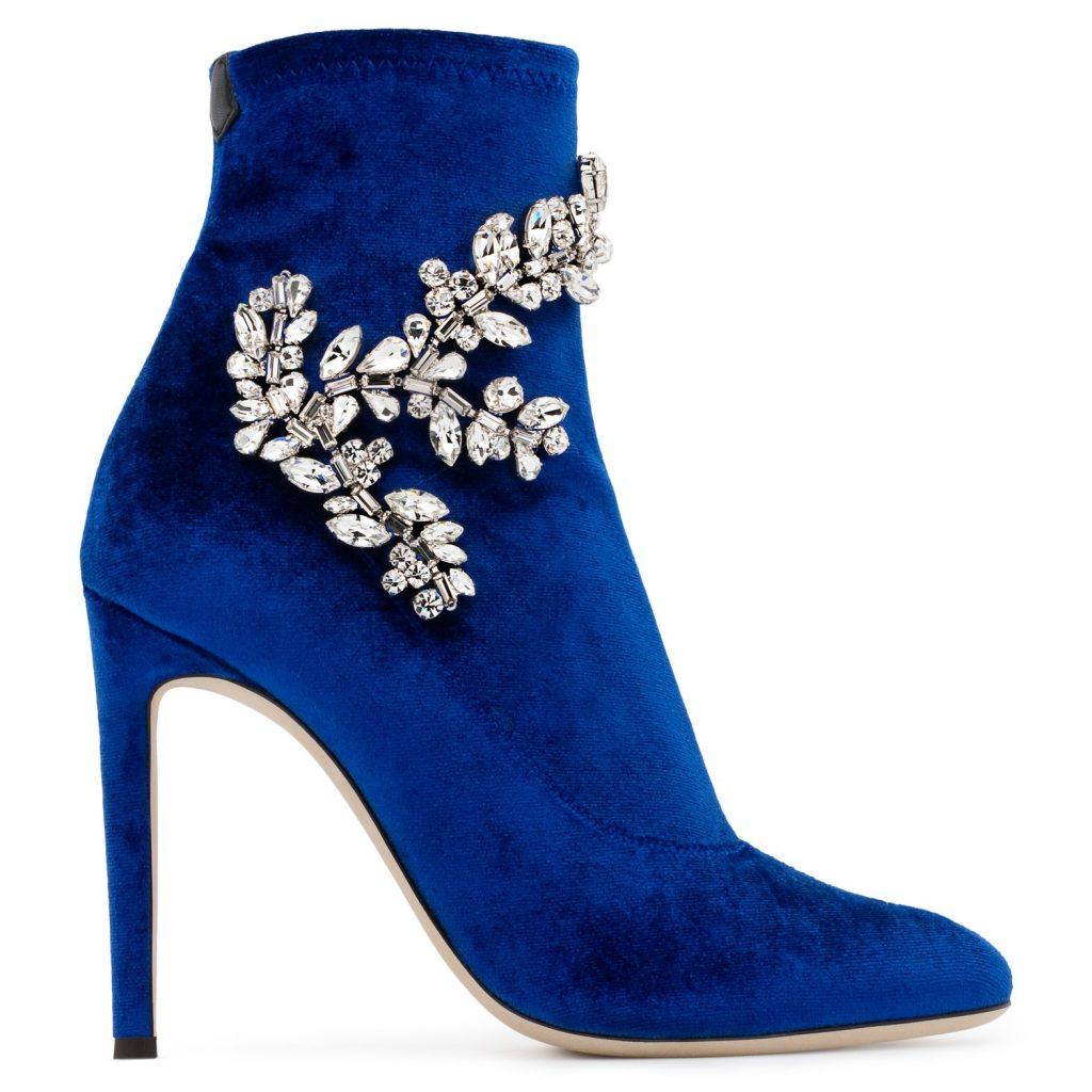 stivaletti gioiello blu