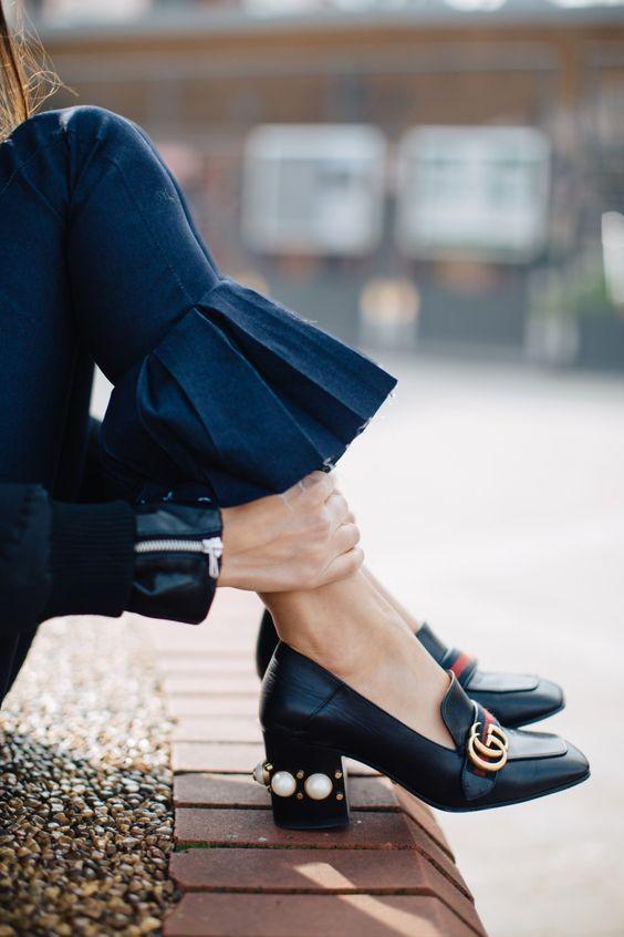 look scarpe punta quadrata
