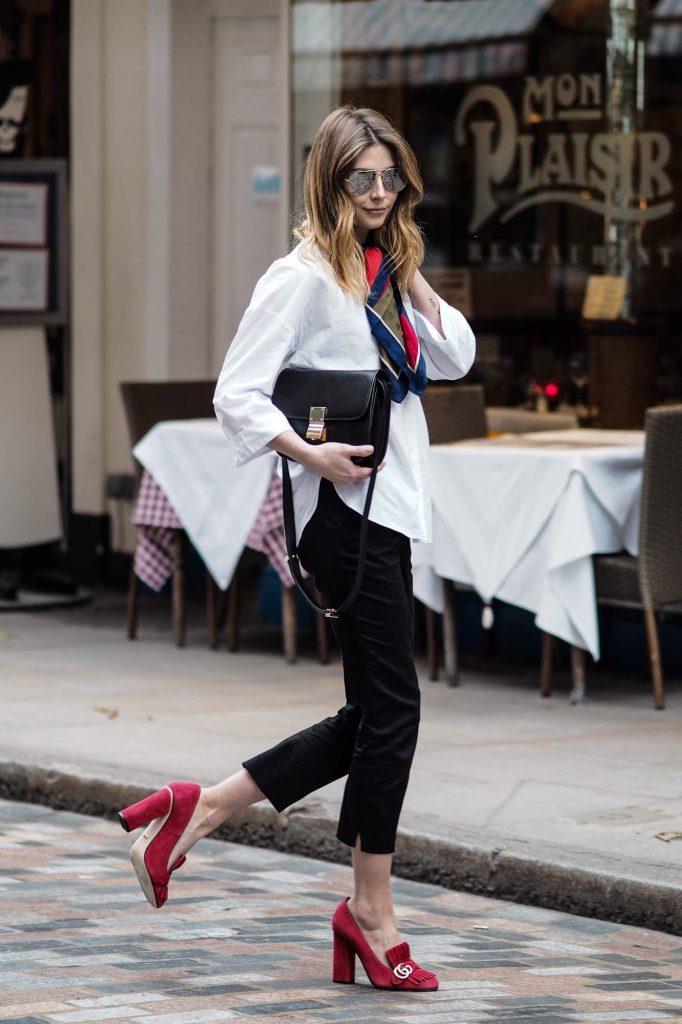 outfit scarpe quadrate