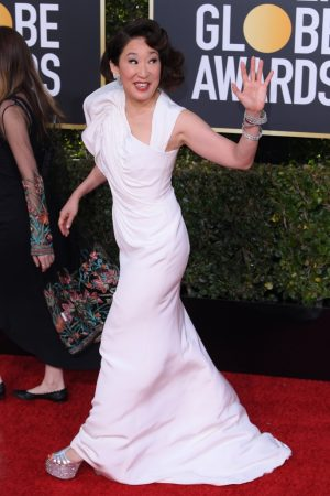sandra oh scarpe sandali golden globe 2019 shoes