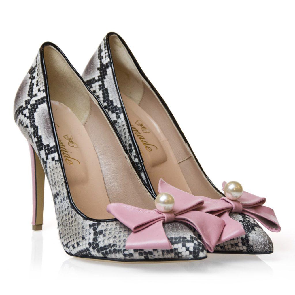 scarpe pitone rosa