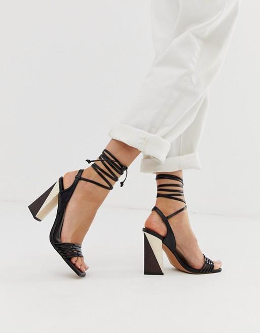 sandali bicolori asos