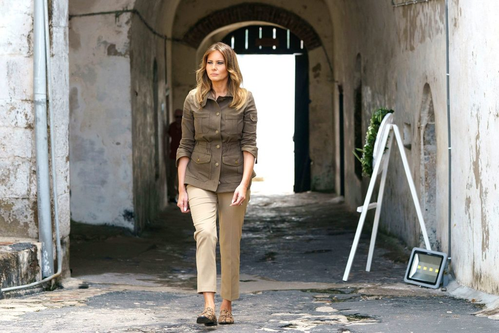 melania trump mocassini
