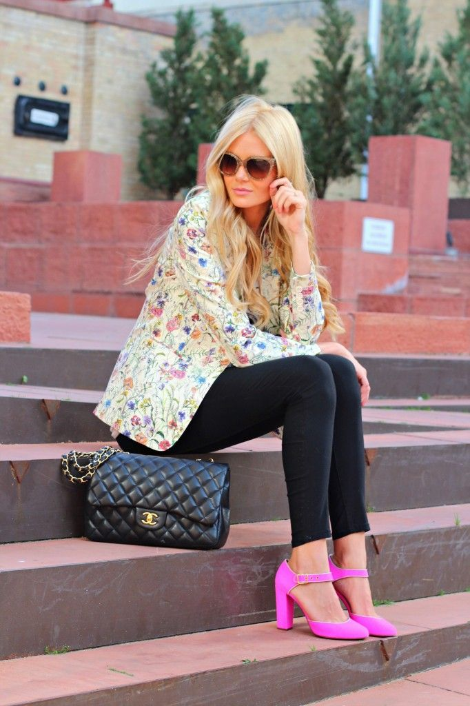 outfit scarpe rosa