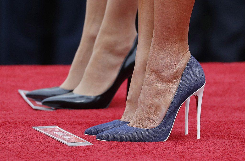 scarpe di melania trump