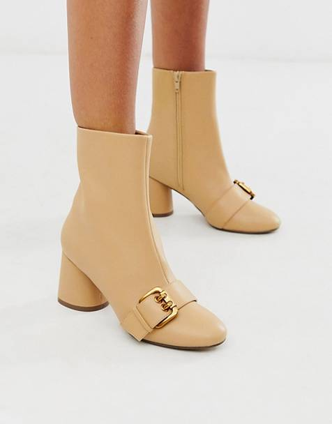 ankle boots nude stivaletti nude low cost