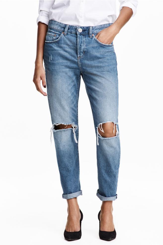 boyfriend jeans e scarpe