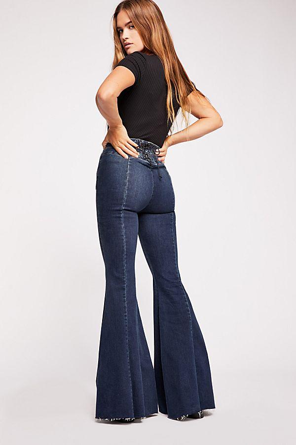 jeans flare scarpe