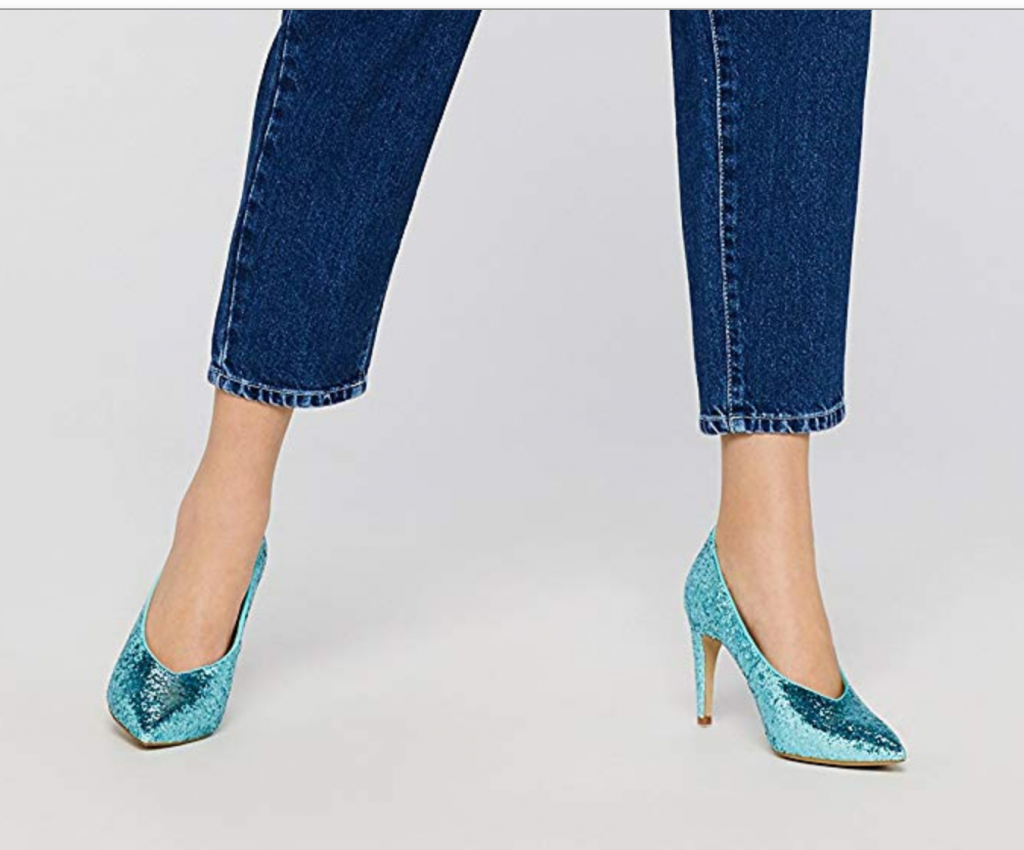 scarpe glitter low cost