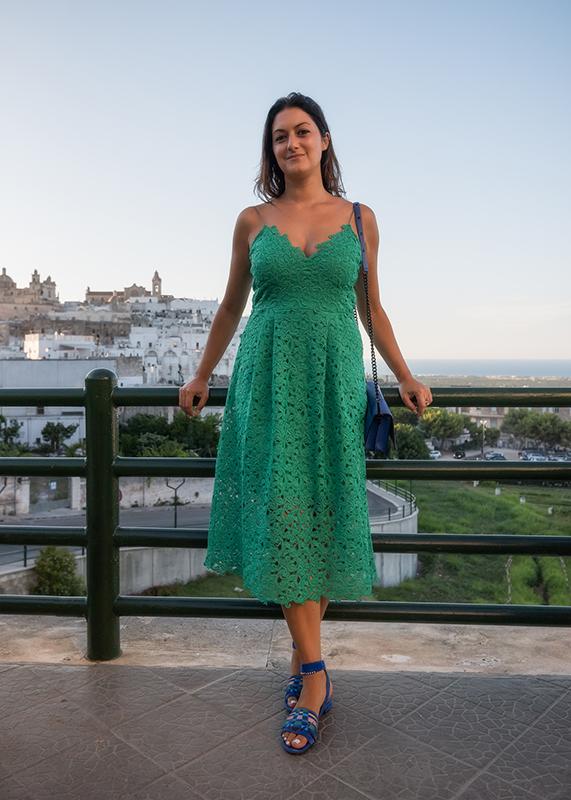 vestito verde outfit
