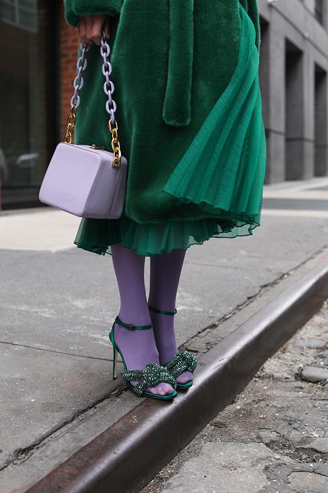 abbinamento viola verde